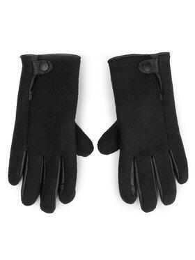Ugg Ugg Dámské rukavice M Snap Tab Fabric Tech Glove 18836 Černá
