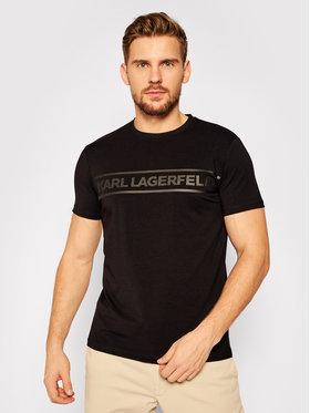 KARL LAGERFELD KARL LAGERFELD Тишърт Crewneck 755025 502221 Черен Regular Fit
