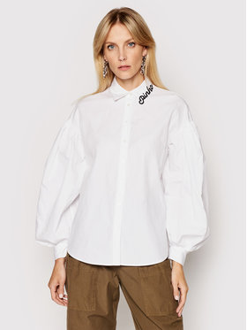 Pinko Pinko Koszula Ragioneria 1N1376 6827 Biały Regular Fit