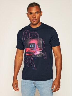 Armani Exchange Armani Exchange T-shirt 6HZTFJ ZJH4Z 1510 Bleu marine Regular Fit