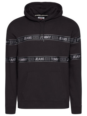 Tommy Jeans Tommy Jeans Džemperis Tjm Tonal Tape DM0DM08410 Juoda Regular Fit