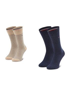 Tommy Hilfiger Tommy Hilfiger Sada 2 párů pánských vysokých ponožek 100001496 Béžová