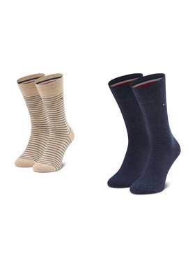 Tommy Hilfiger Tommy Hilfiger Vyriškų ilgų kojinių komplektas (2 poros) 100001496 Smėlio