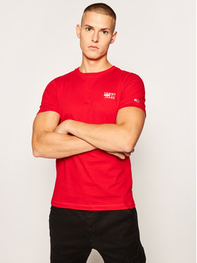 Tommy Jeans Tommy Jeans T-Shirt Tjm Chest Logo Tee DM0DM07472 Červená Regular Fit