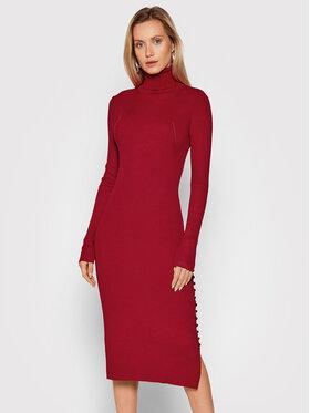 Fracomina Fracomina Džemper haljina FR21WD5001K41601 Crvena Slim Fit