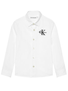 Calvin Klein Jeans Calvin Klein Jeans Cămașă Hybrid Chest Logo IB0IB00830 Alb Regular Fit