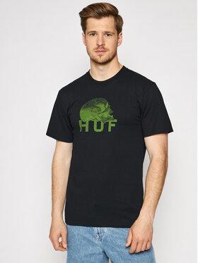 HUF HUF T-Shirt Data Death TS01333 Czarny Regular Fit