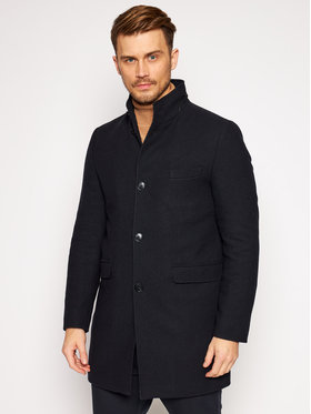 Roy Robson Roy Robson Cappotto di lana 3984-98 Blu scuro Slim Fit