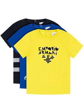 Emporio Armani Emporio Armani Komplet 3 t-shirtów 3HHD01 4J09Z 0922 Kolorowy Regular Fit