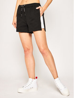 Calvin Klein Jeans Calvin Klein Jeans Szorty materiałowe Blocking Milano Shorts J20J213593 Czarny Regular Fit