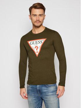 Guess Guess Тениска с дълъг ръкав M0BI31 I3Z11 Зелен Slim Fit