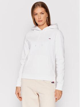 Tommy Jeans Tommy Jeans Majica dugih rukava Fleece Hoodie DW0DW09228 Bijela Regular Fit
