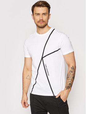 KARL LAGERFELD KARL LAGERFELD T-shirt 755037 511224 Blanc Regular Fit