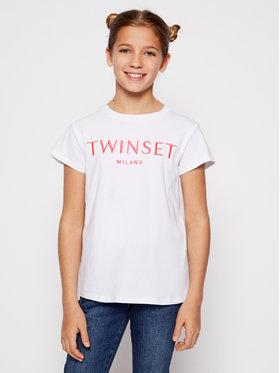 TWINSET TWINSET Тишърт 201GJ2370 M Бял Regular Fit