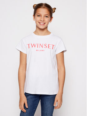 TwinSet TwinSet Tričko 201GJ2370 M Biela Regular Fit