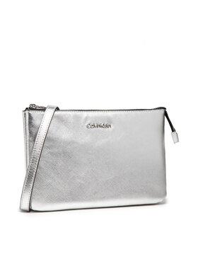 Calvin Klein Calvin Klein Дамска чанта Ew Double Compartment Xbody Saff K60K608555 Сребрист