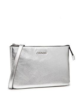 Calvin Klein Calvin Klein Kabelka Ew Double Compartment Xbody Saff K60K608555 Stříbrná