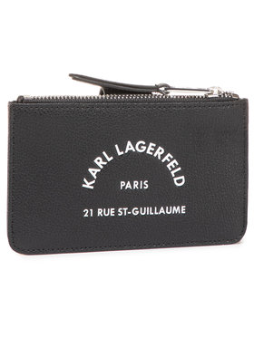 KARL LAGERFELD KARL LAGERFELD Голям дамски портфейл 205W3238 Черен