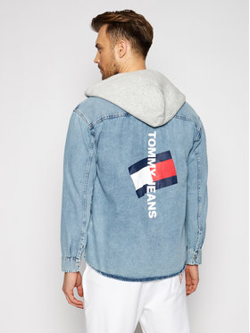 Tommy Jeans Tommy Jeans Džemperis Tjm Denim DM0DM10714 Mėlyna Regular Fit