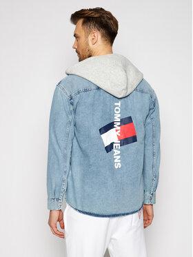 Tommy Jeans Tommy Jeans Majica dugih rukava Tjm Denim DM0DM10714 Plava Regular Fit
