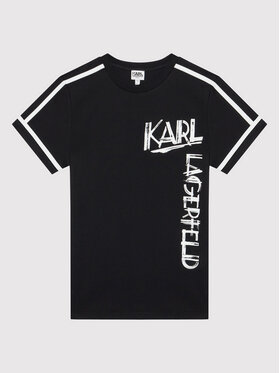 KARL LAGERFELD KARL LAGERFELD Тишърт Z25300 M Черен Regular Fit