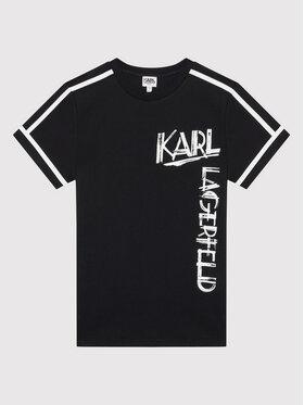 KARL LAGERFELD KARL LAGERFELD Tričko Z25300 M Čierna Regular Fit