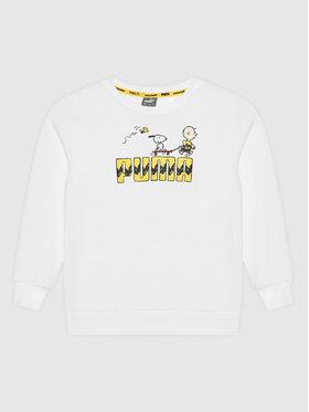 Puma Puma Sweatshirt PEANUTS Crew 599464 Weiß Regular Fit