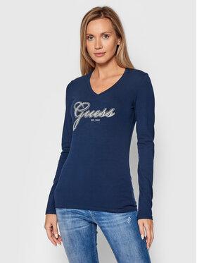 Guess Guess Μπλουζάκι Iradi W1BI01 J1311 Σκούρο μπλε Regular Fit