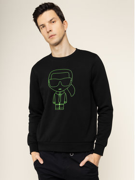 KARL LAGERFELD KARL LAGERFELD Džemperis Sweat Crewneck 705080 501900 Juoda Regular Fit