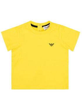 Emporio Armani Emporio Armani T-Shirt 8NHT05 4JFEZ 0254 Żółty Regular Fit