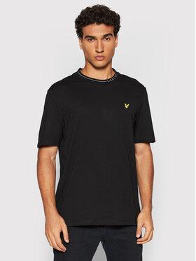Lyle & Scott Lyle & Scott T-Shirt Branded Ringer TS1357V Czarny Relaxed Fit