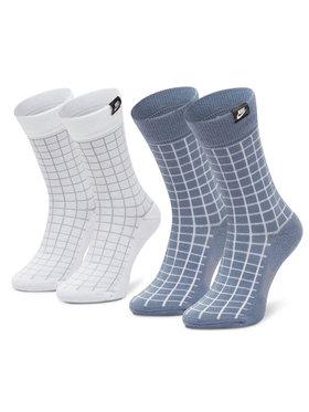 Nike Nike Lot de 2 paires de chaussettes hautes unisexe CK5590-904 Bleu