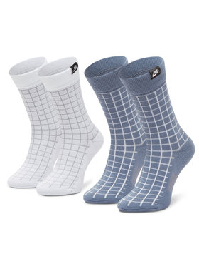 NIKE NIKE Σετ 2 ζευγάρια ψηλές κάλτσες unisex CK5590-904 Μπλε
