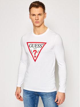Guess Guess Тениска с дълъг ръкав M1RI31 I3Z11 Бял Slim Fit