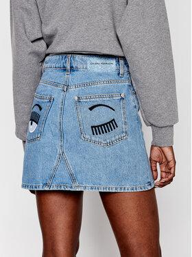 Chiara Ferragni Chiara Ferragni Spódnica jeansowa CFST032 Niebieski Regular Fit