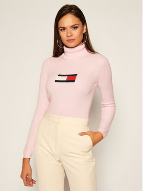 Tommy Jeans Tommy Jeans Golf Tommy Flag Roll DW0DW08857 Różowy Slim Fit