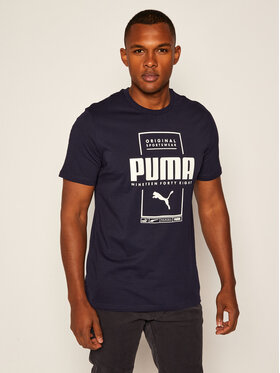 Puma Puma T-Shirt Box Tee 584505 Tmavomodrá Regular Fit