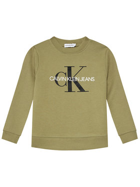 Calvin Klein Jeans Calvin Klein Jeans Bluza Monogram Logo IU0IU00069 Zielony Regular Fit
