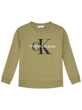 Calvin Klein Jeans Calvin Klein Jeans Mikina Monogram Logo IU0IU00069 Zelená Regular Fit