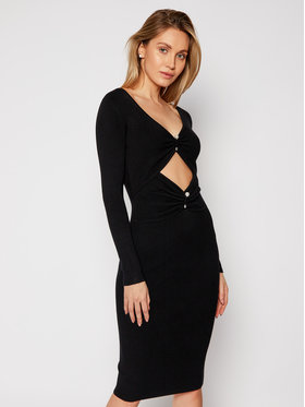 Guess Guess Sukienka dzianinowa W0RK29 R2BF3 Czarny Slim Fit