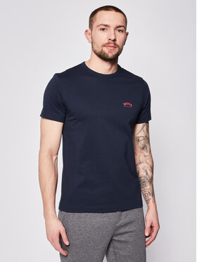 Boss Boss T-Shirt Tee Curved 50412363 Granatowy Regular Fit