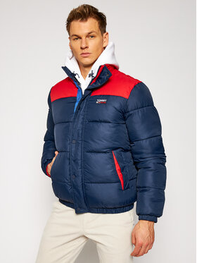 Tommy Jeans Tommy Jeans Пухено яке Corp Puffa DM0DM09379 Тъмносин Regular Fit