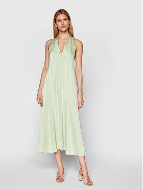 Samsøe Samsøe Samsøe Samsøe Koktel haljina Cille F21100203 Zelena Regular Fit