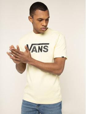 Vans Vans T-shirt Classic VN000GGGYNC1 Jaune Classic Fit