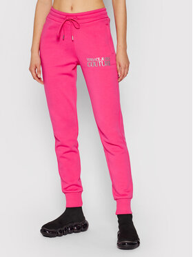 Versace Jeans Couture Versace Jeans Couture Teplákové nohavice 71HAAT04 Ružová Regular Fit