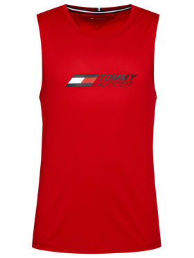 Tommy Hilfiger Tommy Hilfiger Tank-Top Essentials MW0MW17229 Rot Relaxed Fit