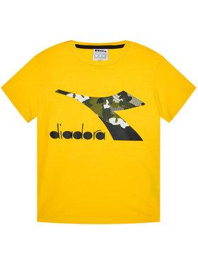 Diadora Diadora T-Shirt Chromia 102.176488 Žlutá Regular Fit