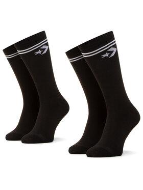 Converse Converse Комплект 2 чифта дълги чорапи дамски E956B-2010 Черен