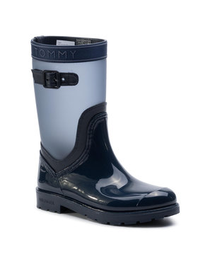 TOMMY HILFIGER TOMMY HILFIGER Guminiai batai Translucent Detail Rain Boot FW0FW04126 Tamsiai mėlyna