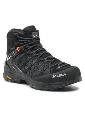 Salewa Salewa Trekkingschuhe Ws Alp Trainer 2 Mid Gtx GORE-TEX 61383-0971 Schwarz